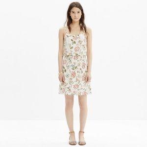Madewell Silk Floral overlay dress